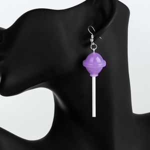 Purple lollipop earrings NEW